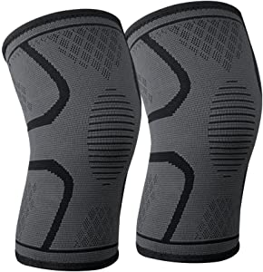littlejian Compression Knee Sleeve,Best Knee Brace Support for Sports,Running,Jogging,Basketball,Joint Pain Relief,Arthritis and Injury Recovery&More,Men and Women(2 Piece-Small)