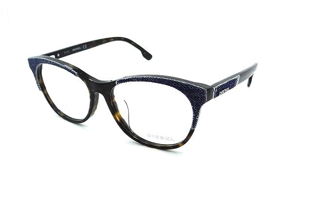 Amazon.com: Diesel Rx Eyeglasses Frames DL5155-F 052 56-16-145 Blue ...