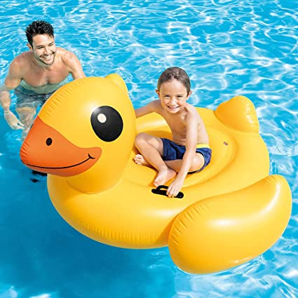 Intex 57556NP - Pato hinchable 147x147x81 cm: Amazon.es: Juguetes ...