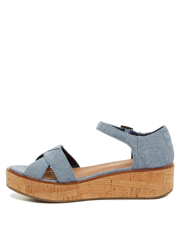 4a560e25561 TOMS Women s Fashion Sandals - Blue - S  Amazon.co.uk  Clothing