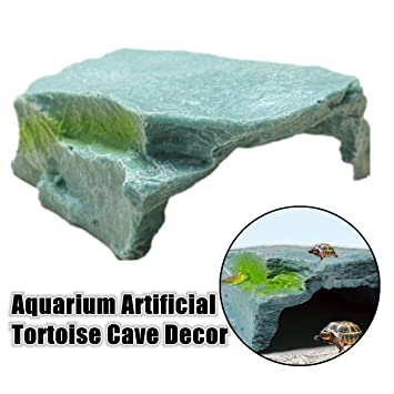 dDanke Figura decorativa de tortuga flotante para decoración de acuario (10 x 6,5