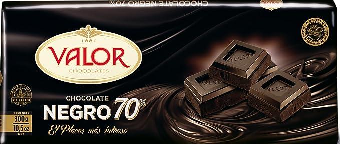 Chocolates Valor - Chocolate negro de 70% cacao - 300 g - [pack de