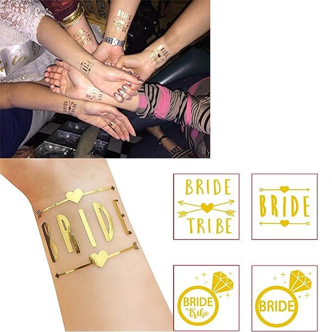 euiristore equipo adhesivos de novia en oro Flash boda Tatuajes ...