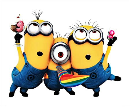 Homgaty Large 3D Despicable Me Cute Minions Vinyl Wall Sticker Mural Decal  Art Wallpaper For Home