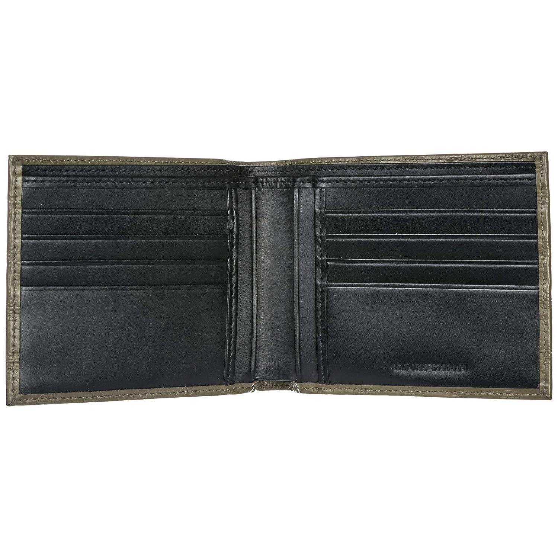 Emporio Armani cartera billetera bifold de hombre en piel nuevo verde: Amazon.es: Zapatos y complementos