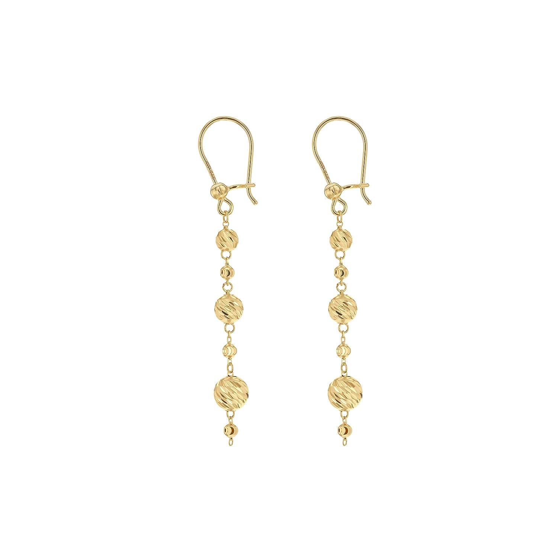 Carissima Gold Women s 9 ct Yellow Gold Diamond Cut Graduated Ball