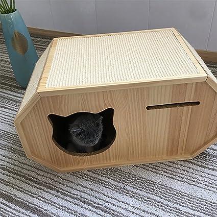 Gato Que Trepa El Apartamento Del Árbol Del Gato Del Marco Casa De Madera Grande Del ...