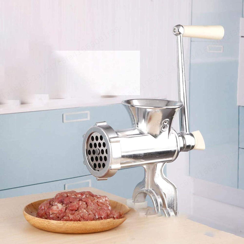 LAQI Picadora de Carne de Acero Inoxidable Picadora de Carne Manual M/áquina de procesamiento casera