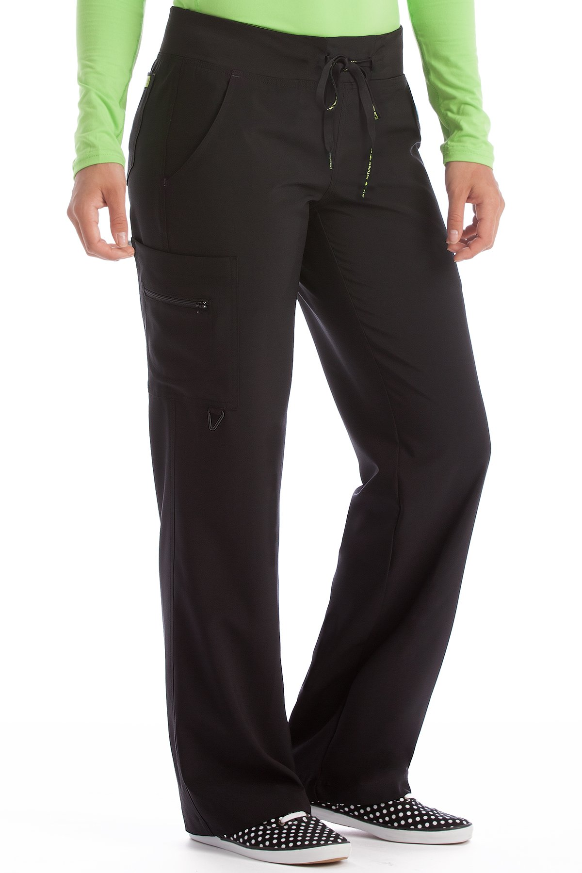 Med Couture Women's 'Activate' Transformer Scrub Pant, Black, X-Large Tall