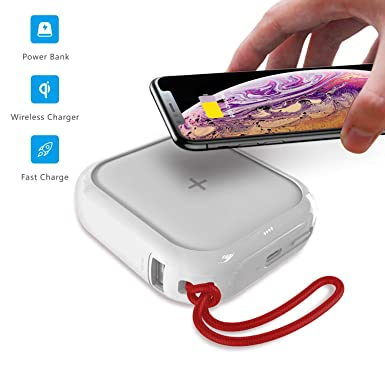 MIPOW - Cargador inalámbrico portátil para iPhone X/8/8 Plus ...