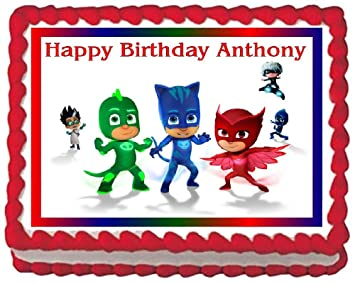 PJ Masks Edible Frosting Sheet Cake Topper - 1/4 Sheet