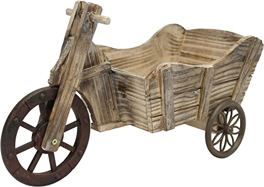 Triciclo macetero de carro para bicicleta maceta macetas madera ...