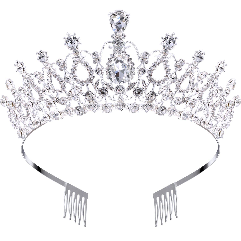 Bridal Bridesmaid Wedding Prom Crystal Rhinestone Diaman Crown Tiara Headband BW