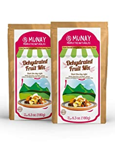 Munay Productos Naturales Dehydrated Fruit Andean Mix 12.6 Oz ( 360 g ) in two resealable stand-up Paper Bags (Pack of 1)