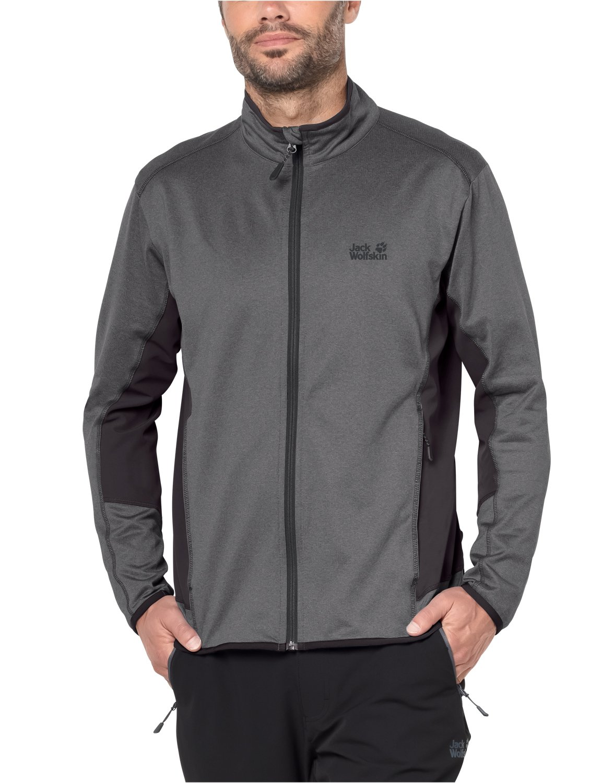 Jack Wolfskin Men's Sutherland flex Jacket, Medium, Tarmac Grey