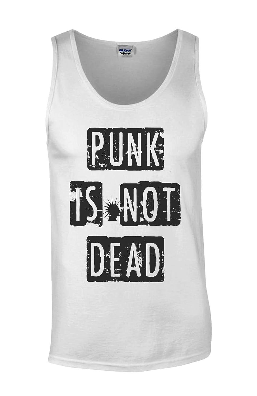 Punk is Not Dead Fun Novelty White Homme Men Tricot de Corps Tank Top Vest