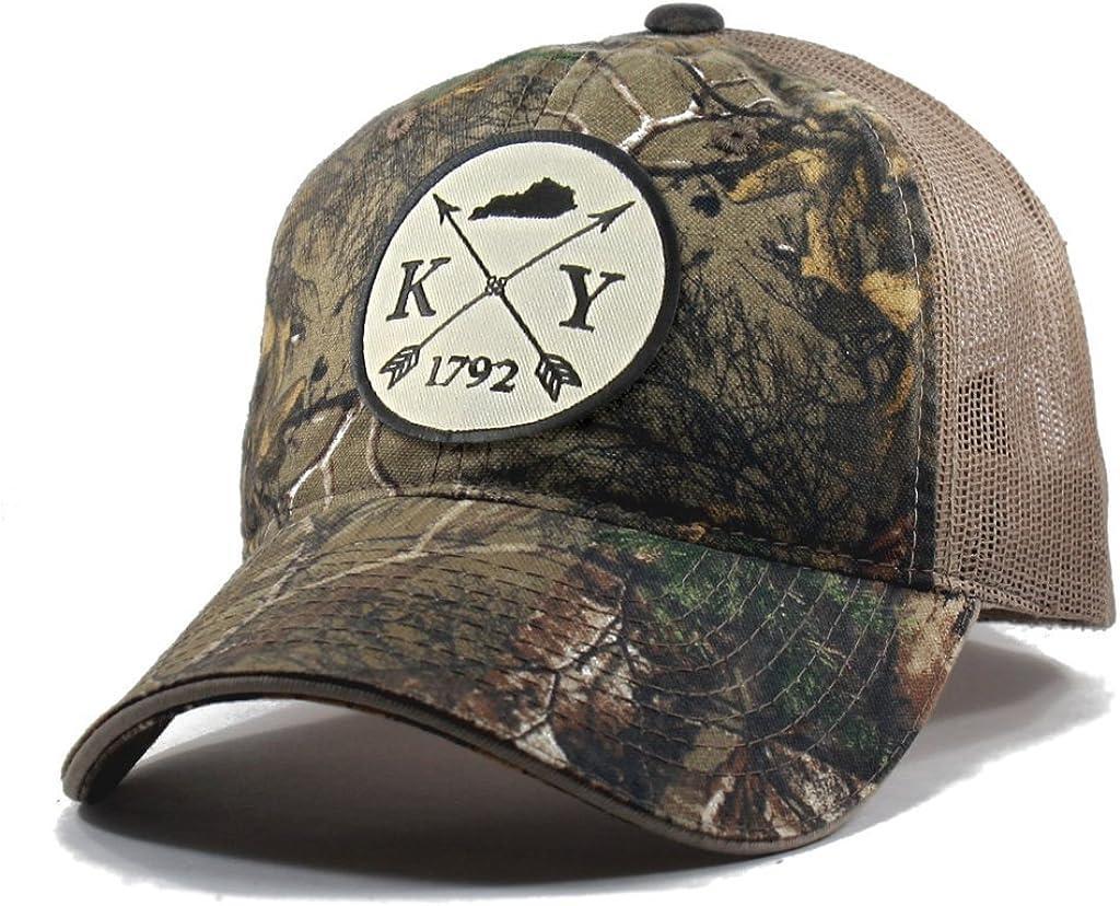 Homeland Tees Mens Kentucky Arrow Patch Camo Trucker Hat