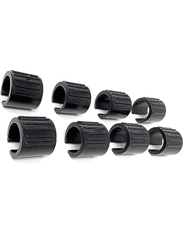 4 x Contera entrante con fieltro /ø 14 mm negro redondo tap/ón deslizante con fieltro para patas de tubo en primera calidad Adsamm/®