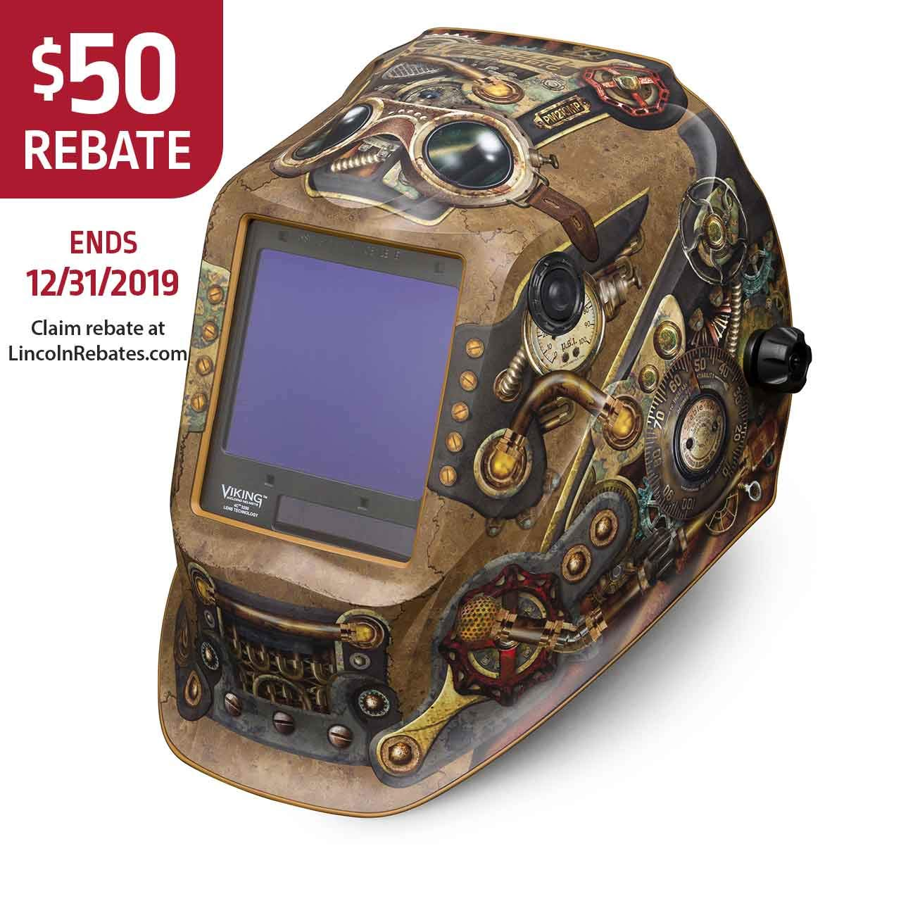Lincoln Electric K3428-4 VIKING 3350 Welding Helmet, Steampunk by Lincoln Electric