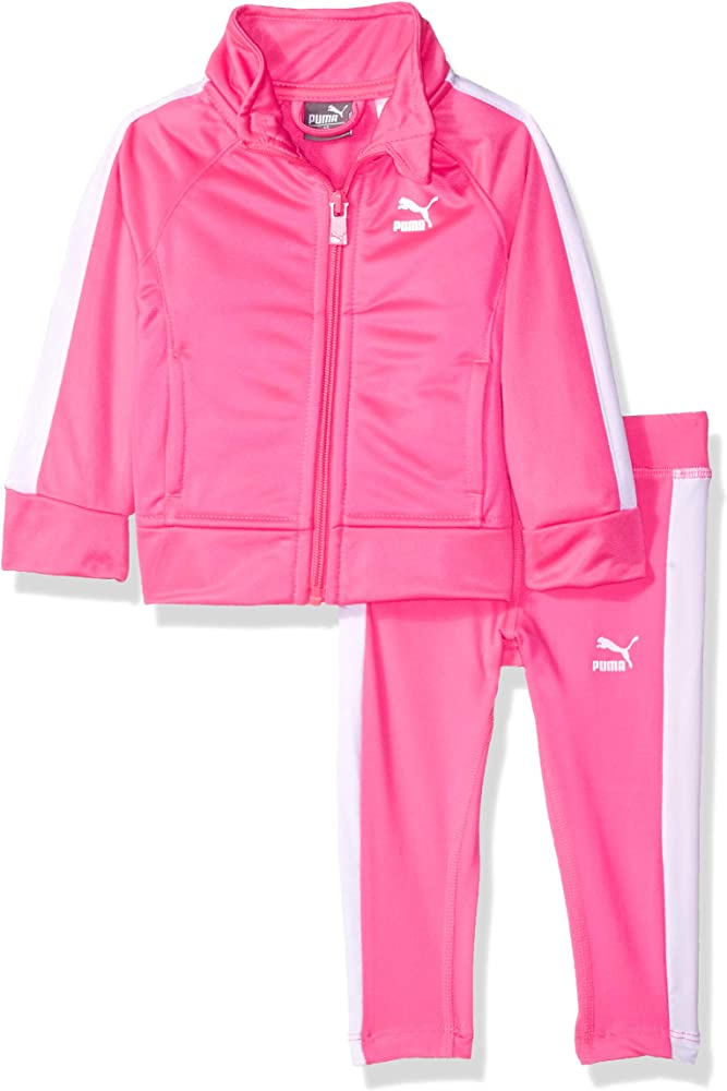 PUMA Baby Girls Track Jacket and Legging Set, Knock Out Pink, 18M ...