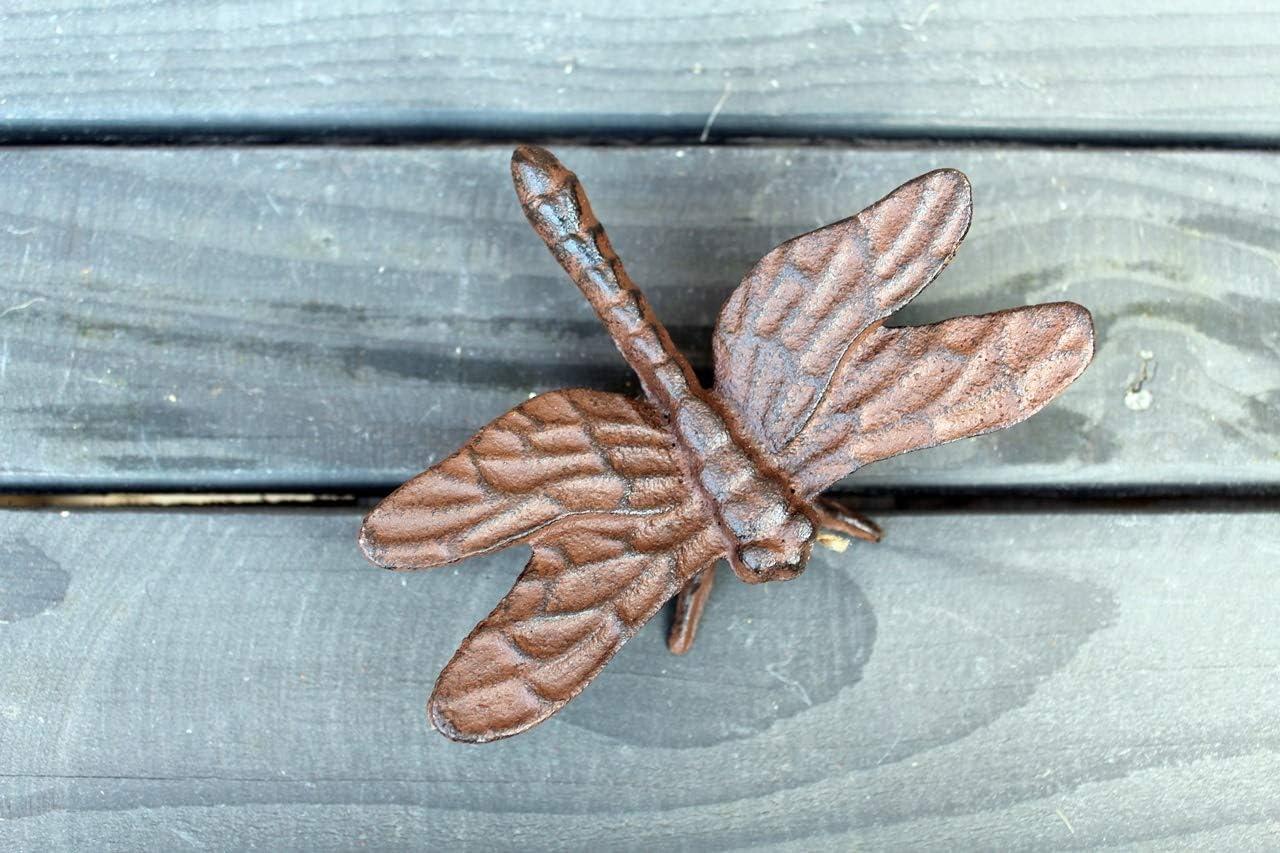 Unbekannt Gartenfigur Libelle Gusseisen