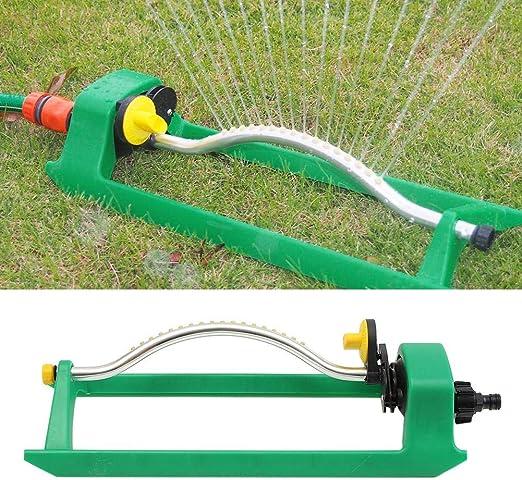 QUUY Aspersor de jardín, Rotación automática de césped oscilante Regador de riego Manguera de tubería de jardín Flujo de Agua con Plantas de conexión Herramientas de riego: Amazon.es: Hogar