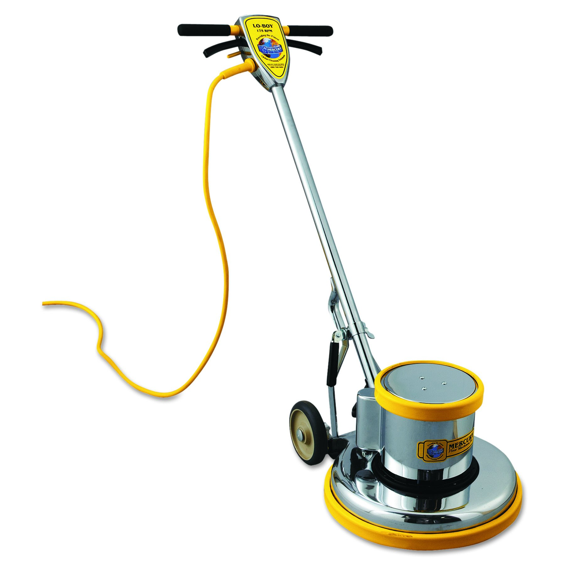 Mercury L-17E Lo-Boy Floor Machine, 17'' Apron, 1.5 HP Motor, 175 RPM Brush Speed by Mercury