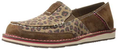 Womens Cruiser Slip-On Shoe, Dark Earth/Cheetah, 8 B US Ariat