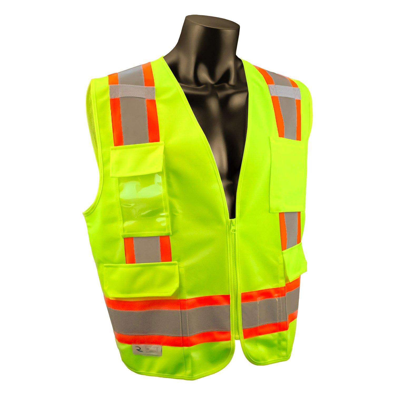 Radians SV6GM Two Tone Surveyor Class 2 Safety Vest, Medium, High visibility Green Color: High visibility green Size: Medium Model: SV6GM Tools & Home Improvement