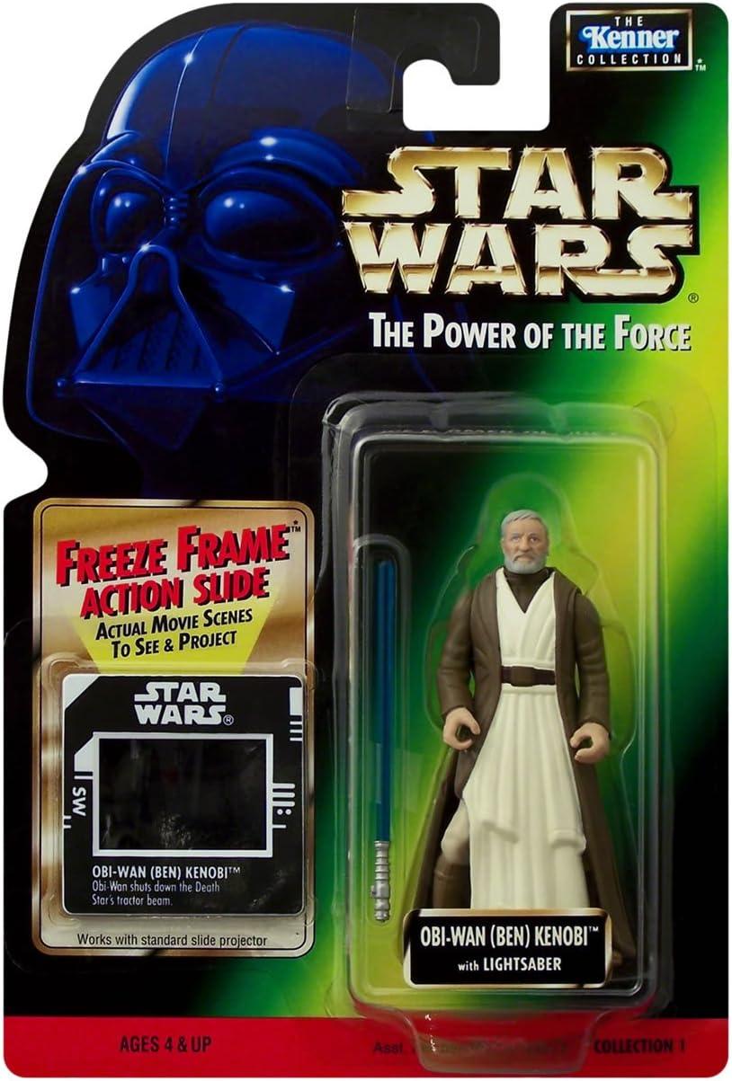Star Wars Power of The Force Freeze Frame OBI-Wan Kenobi Action Figure