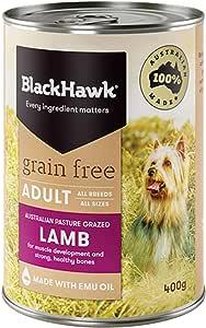 Black Hawk - Grain Free, Wet Dog Food, Lamb, Adult and Senior, 400g
