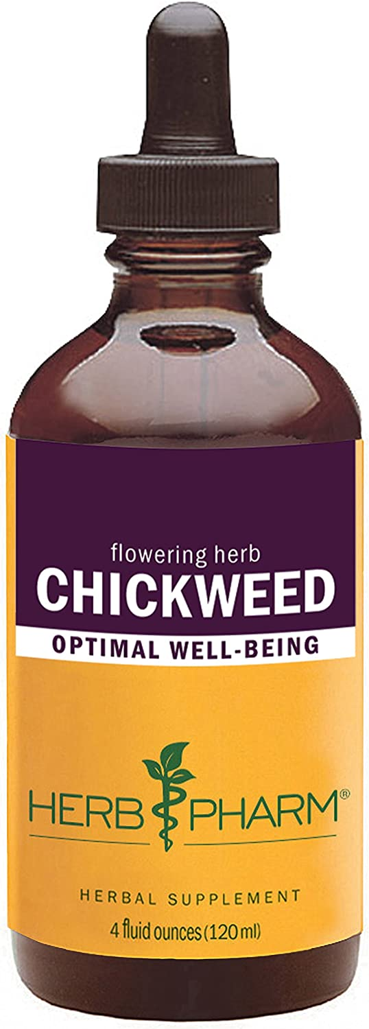 Herb Pharm Certified Organic Chickweed Liquid Extract – 4 Ounce