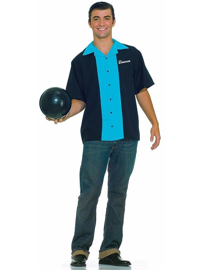 1950s Men's Costumes Plus King Pin Bowling Shirt  AT vintagedancer.com