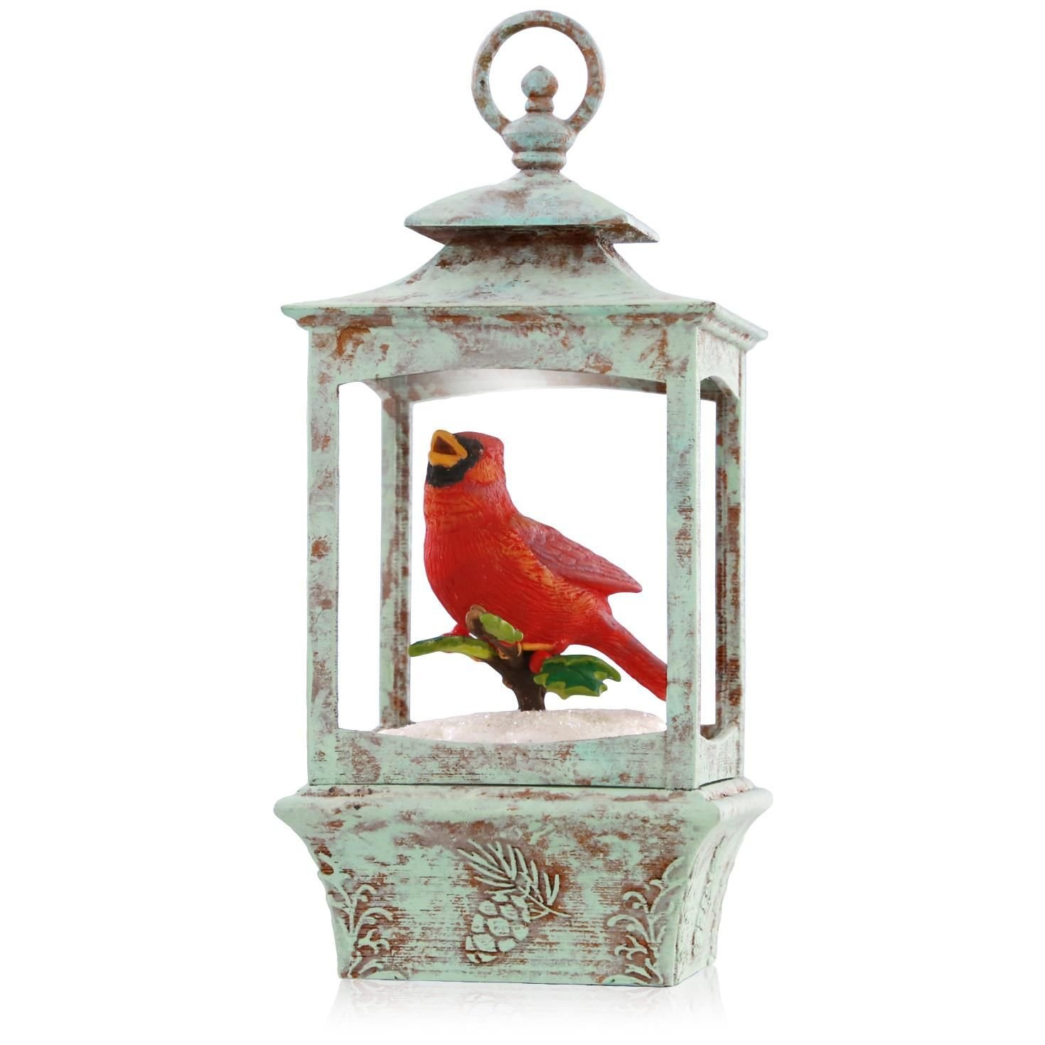 Festive Cardinal Birds Christmas Ornaments