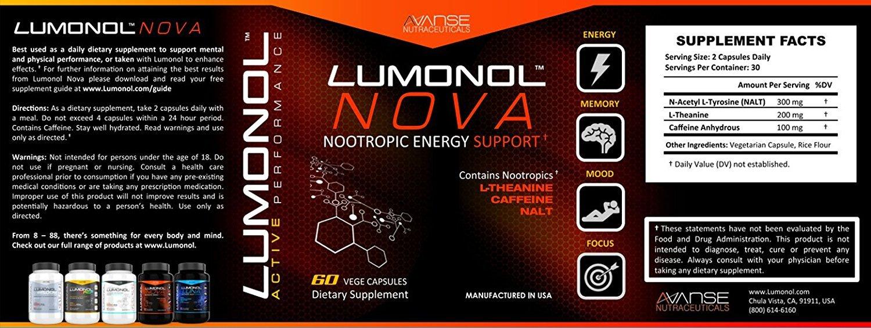 3 Bottle Lumonol Wisdom + 3 Bottle Nova (360ct) 3 Month Supply