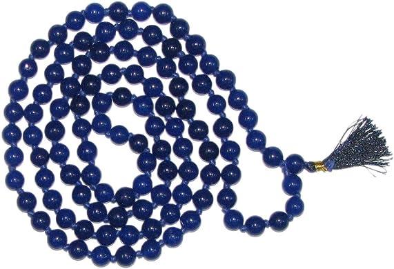 Bakthi Today Sani Grah Dosh Nivaran Blue Coloured Natural Sphatik Quartz Gemstone 8Mm Mala – A0494 3 X