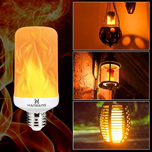4PCS Flame Bulb,SS SHOVAN LED Flame Effect Light Bulbs with 3 Lighting Modes Retro Indoor Outdoor Decorative Lights for Gardens Wedding Party Halloween Christmas