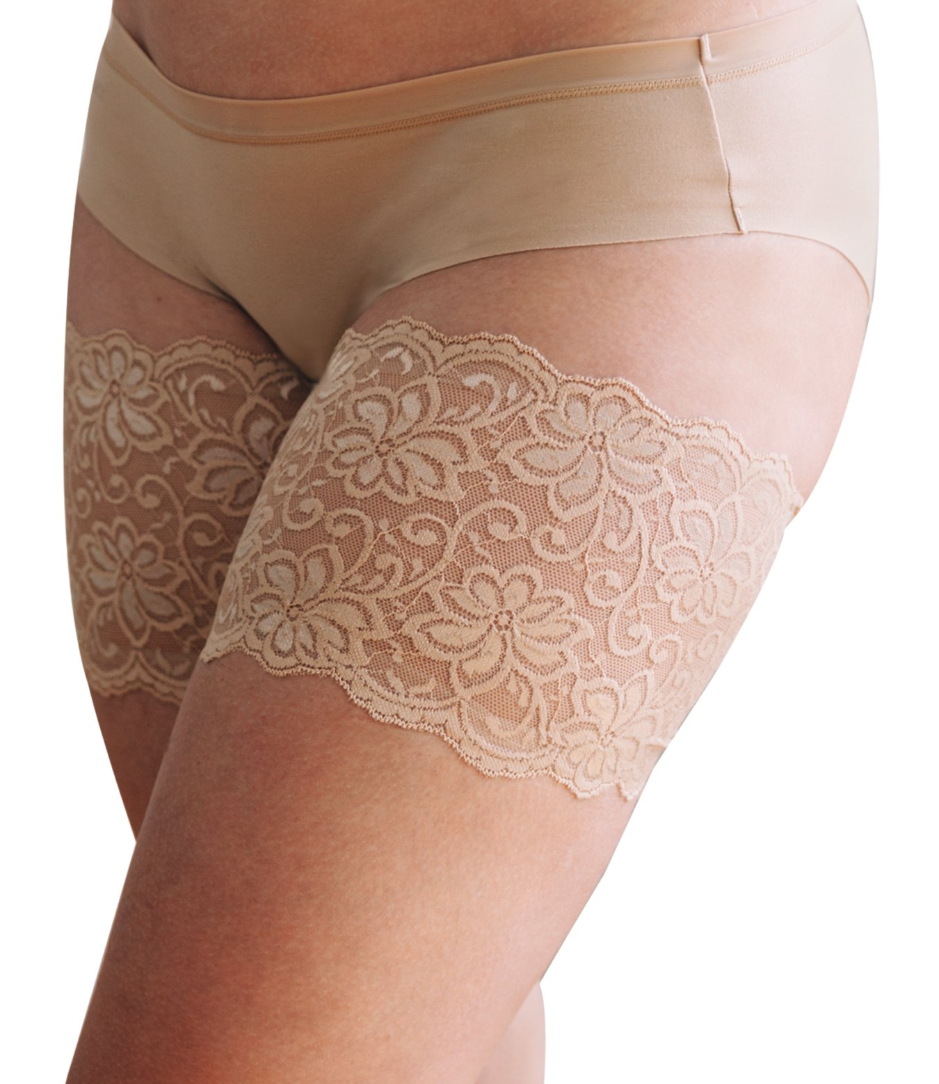 Bandelettes Elastic Anti-Chafing Thigh Bands - Prevent Thigh Chafing - Dolce Beige, Size D