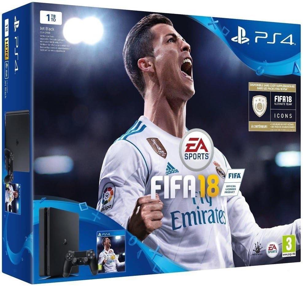 PS4 Slim 1To + FIFA 18 [Importación francesa]: Amazon.es: Videojuegos