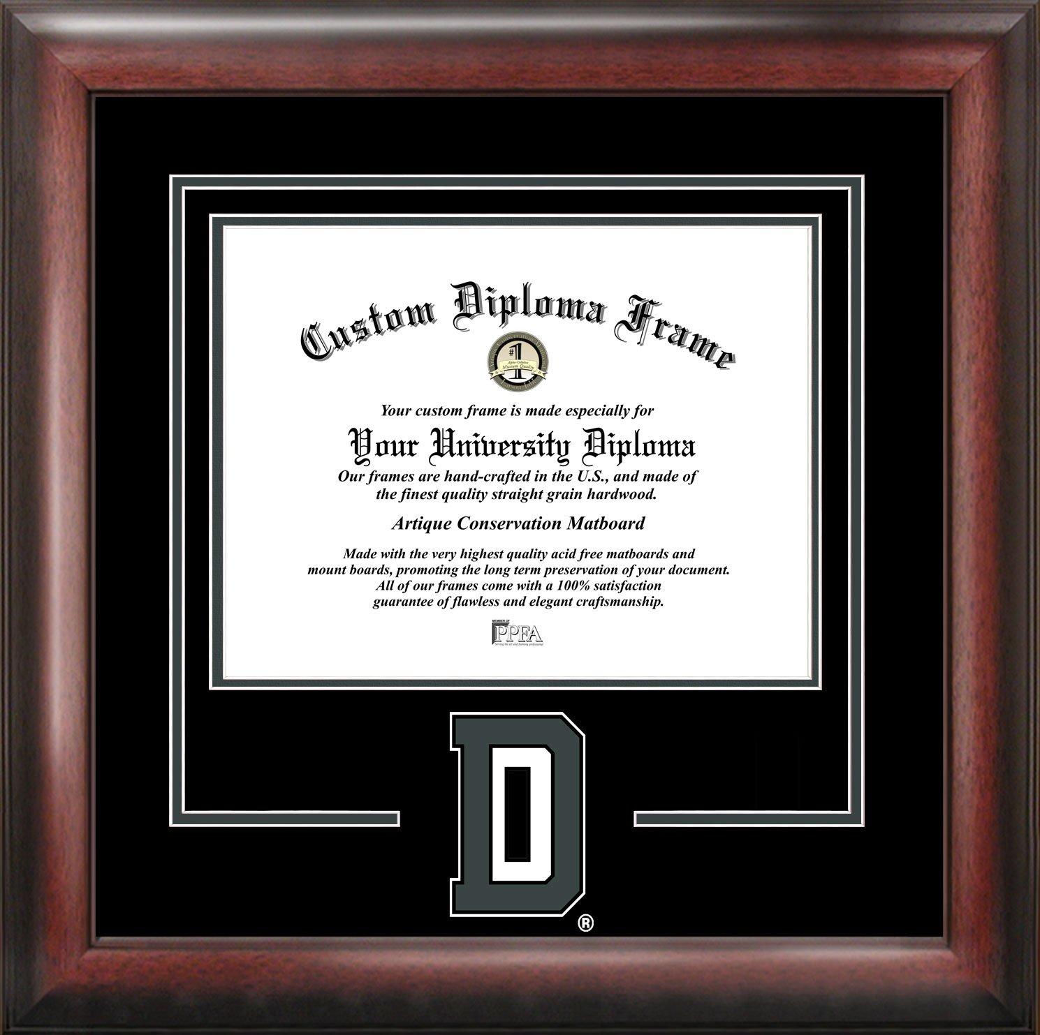 amazoncom ncaa akron zips spirit diploma frame 85 x 11 mahogany sports fan diploma frames sports outdoors - Diploma Frames