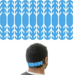 product image for Ear Strap Extender for Masks with 3 Slots to Fit All (Made in USA) Color Options (10 Pieces) (Cyan)