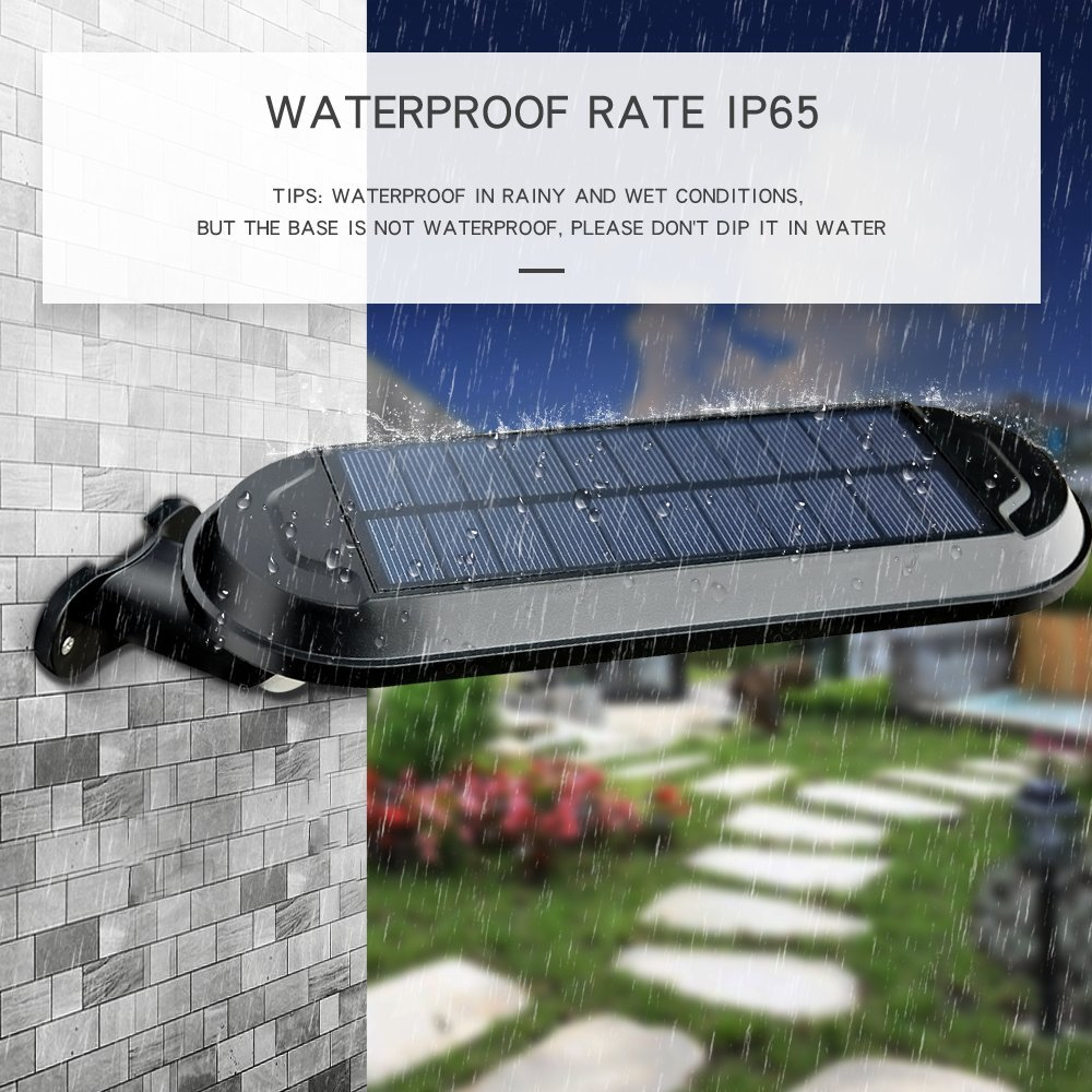 DS Lighting Solar Security Lights, Super Bright 18 LED Outdoor Garden Light Waterproof 4 Mode Wall Lamps with PIR Motion Sensor for Patio Walkway (Cool White, 1 Pack)