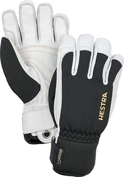 Hestra Waterproof Gore-Tex Ski Gloves  Mens and Womens Army Leather Winter  Cold Weather b91fb9b76d