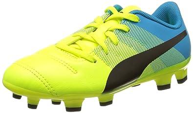 Puma EvoPower 4.3 FG Jr, Unisex-Kinder Fußballschuhe, Gelb (Safety Yellow-