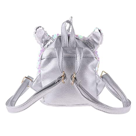 Amazon.com   Freebily Girls Mini Cute Dazzling Glittery Sequins PU Backpack Daypack Shoulder Travel Bag Schoolbag Satchel Silver One Size   Kids Backpacks