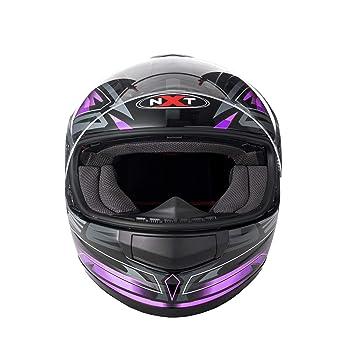 Sun Visor - Casco de motocicleta para motocicleta con cara completa para hombre