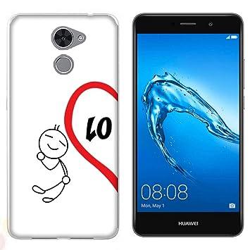 Funda Y7 Prime Carcasa Huawei Y7 Prime Pareja enamorados ...