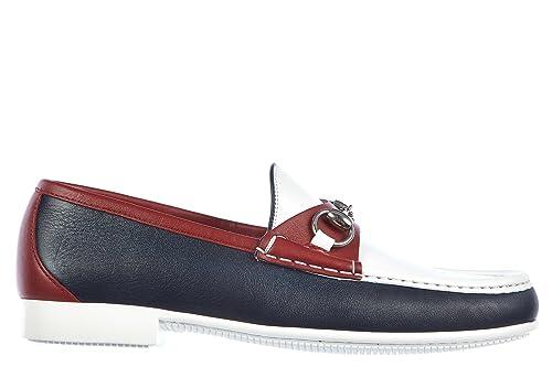 Gucci Mocasines en Piel Hombres Nuevo Miro Soft Rojo EU 43.5 337060 AYO70 4068: Amazon.es: Zapatos y complementos