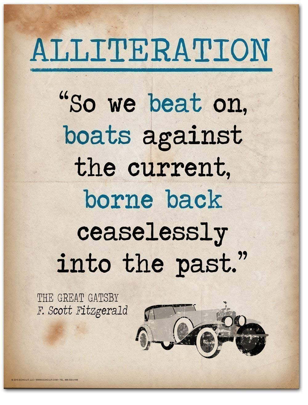 Amazon Great Gatsby Alliteration Quote Educational