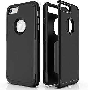 Baricy Pioneer Series iPhone 8 Cases – Compatible with iPhone 7 Cases & iPhone SE 2020 Cases(Does not Show Apple Logo) Premium Shockproof Phone Case (Black)